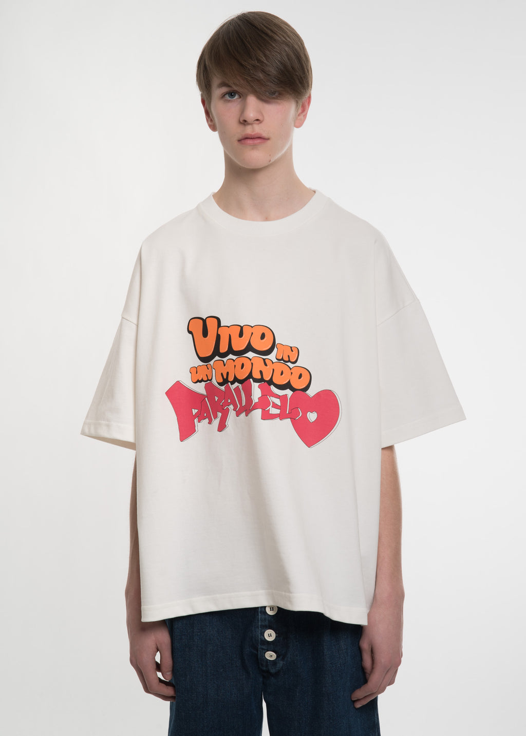 White Oversized Vivo T-Shirt