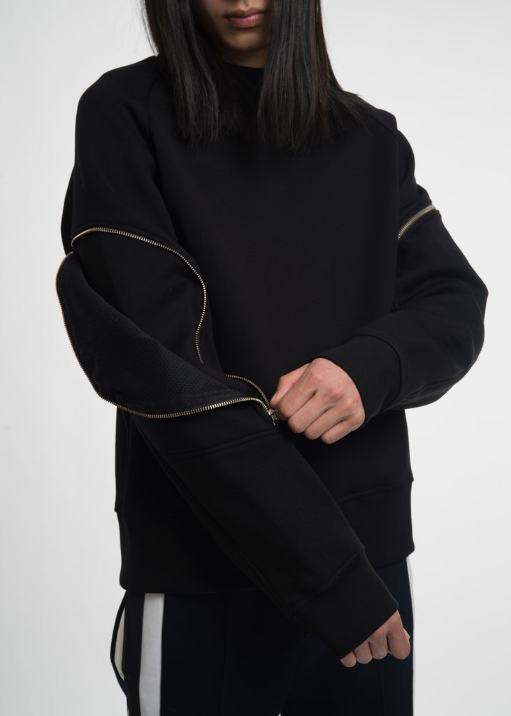Tim Coppens, Black Zipper Crewneck, 017 Shop