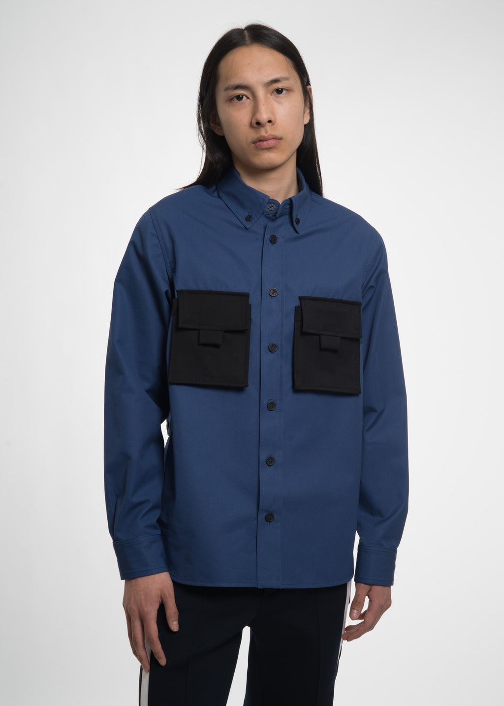 Cobalt Blue Worker Overshirt