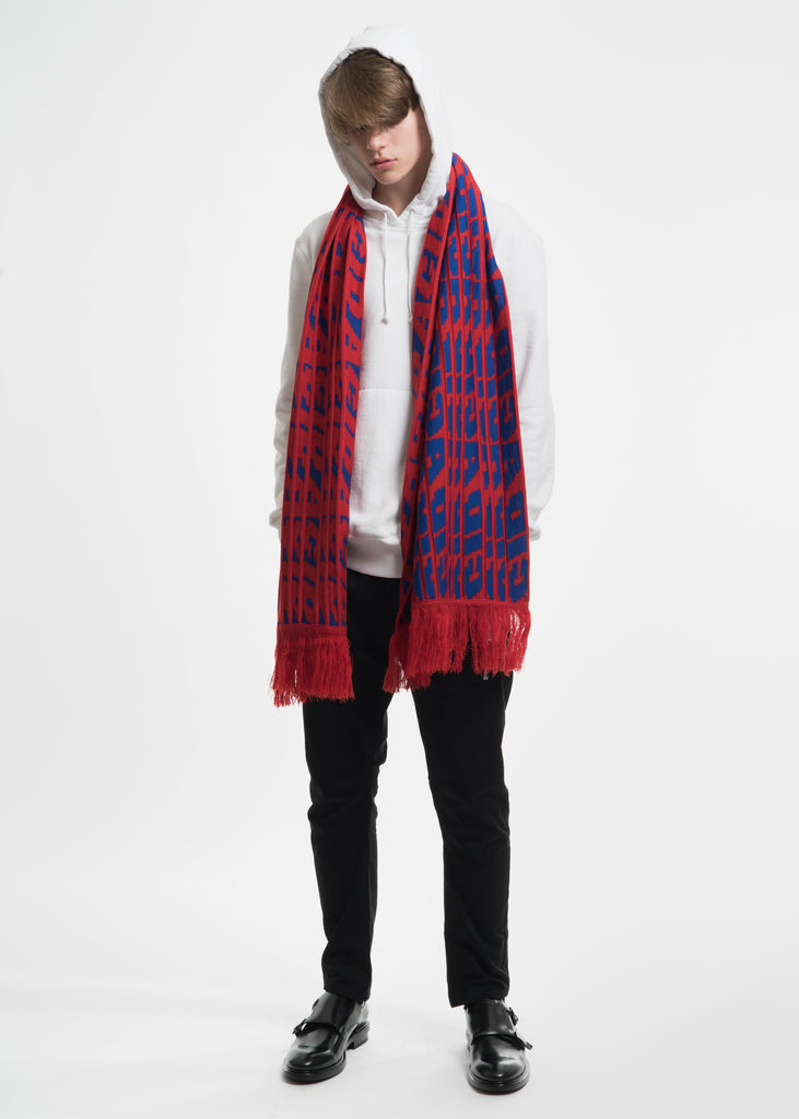 Tim Coppens, Red Acid Jacquard Scarf, 017 Shop
