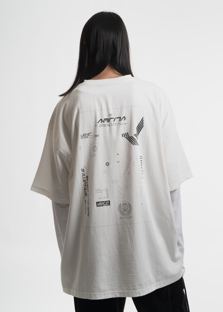 Hyein Seo, White Layered T-Shirt, 017 Shop