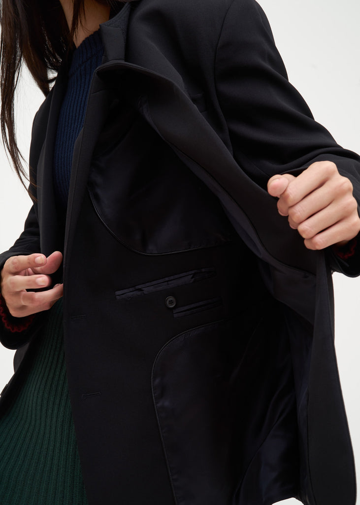 Black Double Panelled Blazer