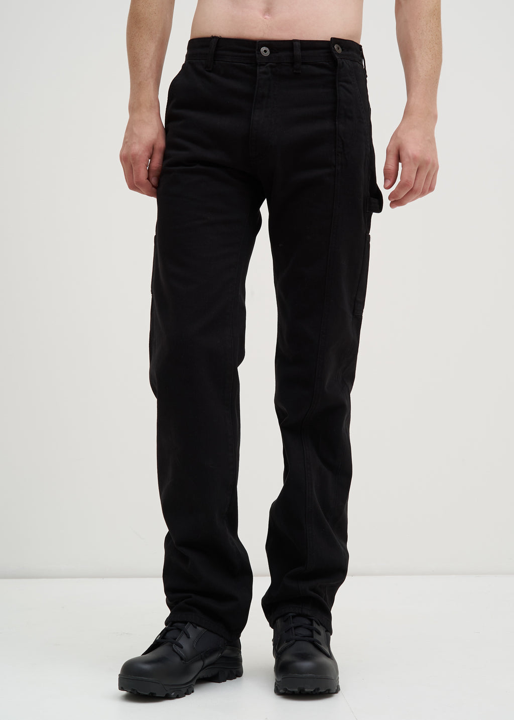 Black Side Zip Trousers