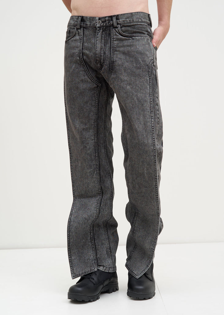 Black Stonewash XL Pocket Jeans