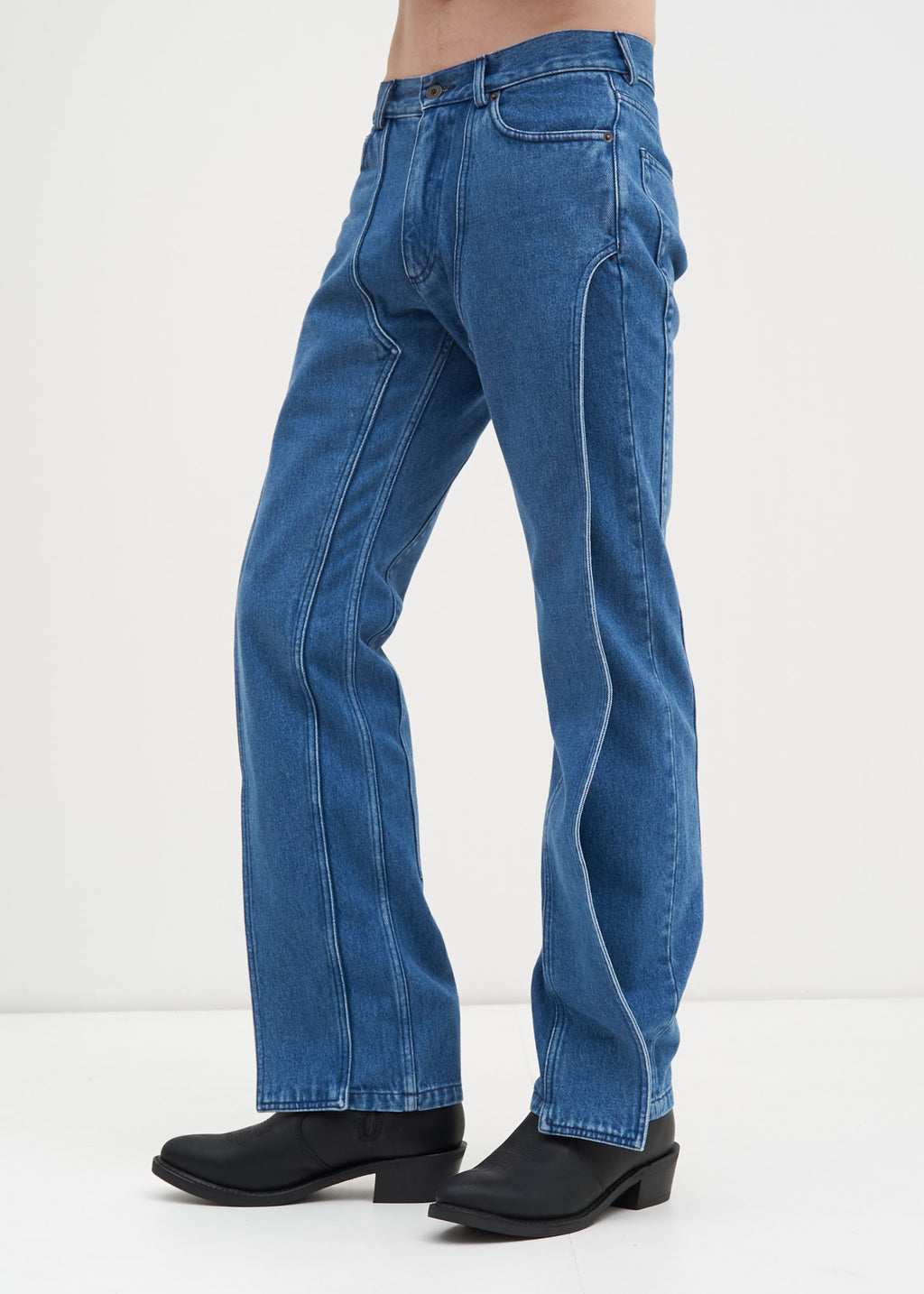 Blue Stonewash XL Pocket Jeans