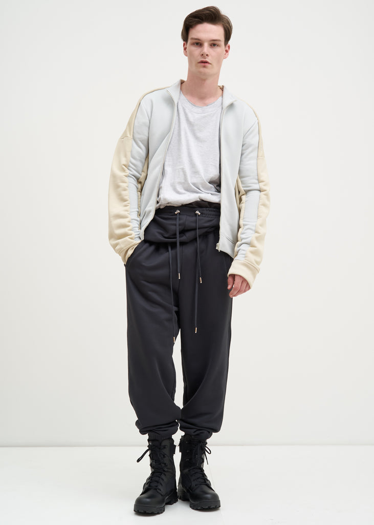 Grey Double Waistband Trackpants