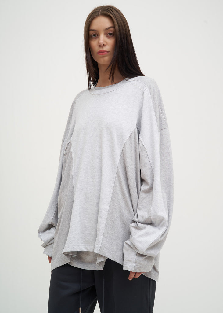 Grey Skinny Long Sleeve T-Shirt
