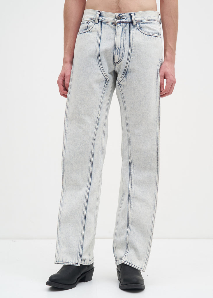 White Stonewash XL Pocket Jean