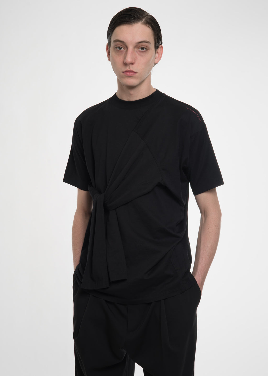 Black Four Sleeved T-Shirt