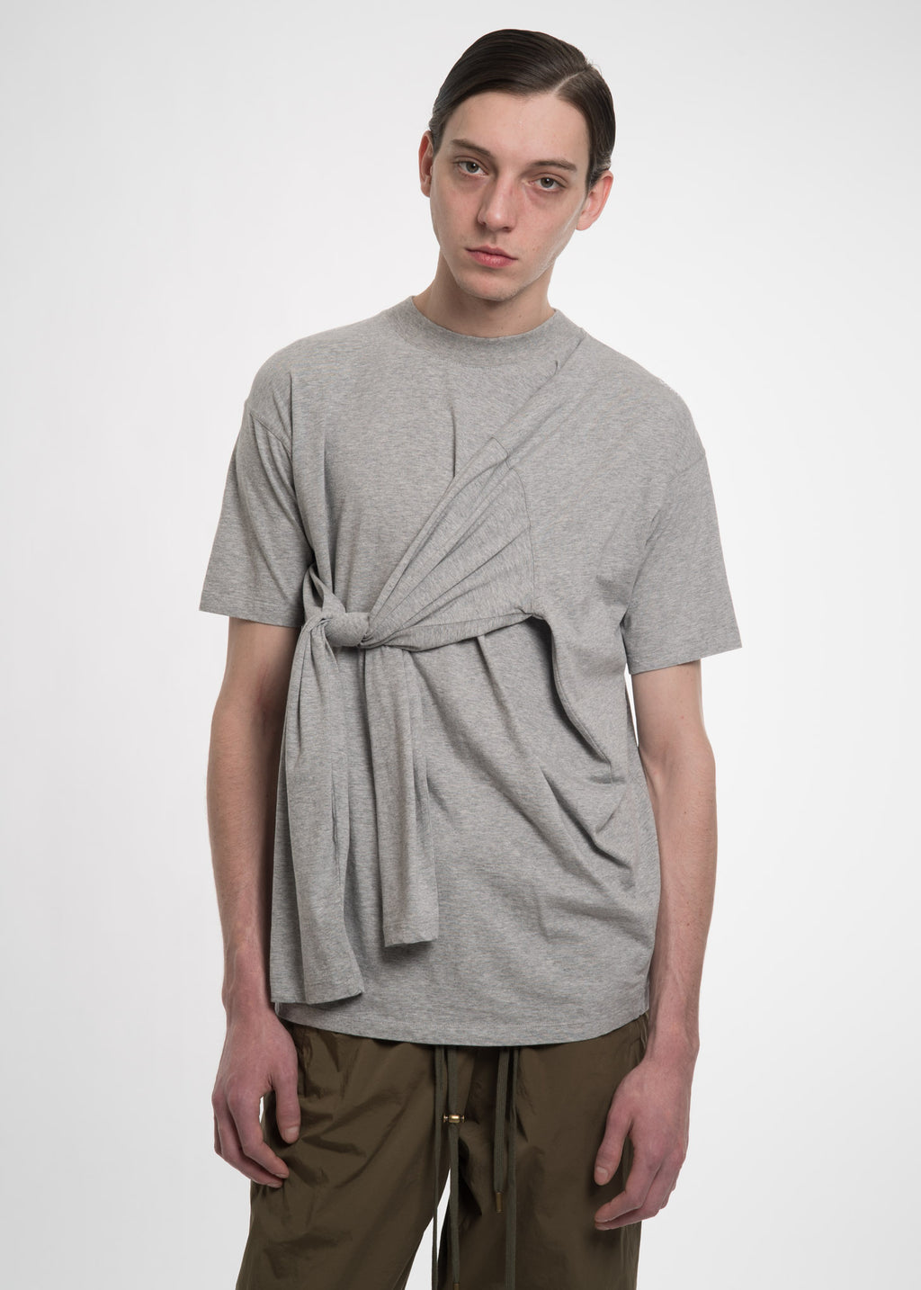 Y/Project, Grey Four Sleeved T-Shirt, 017 Shop