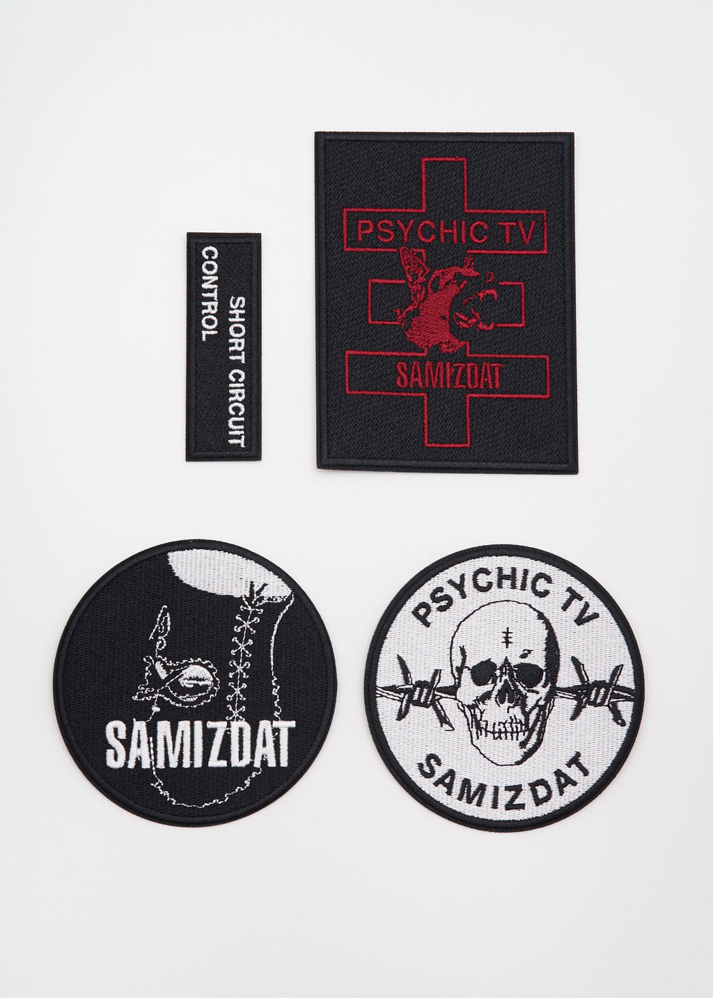 Black 4.0 Woven Patches
