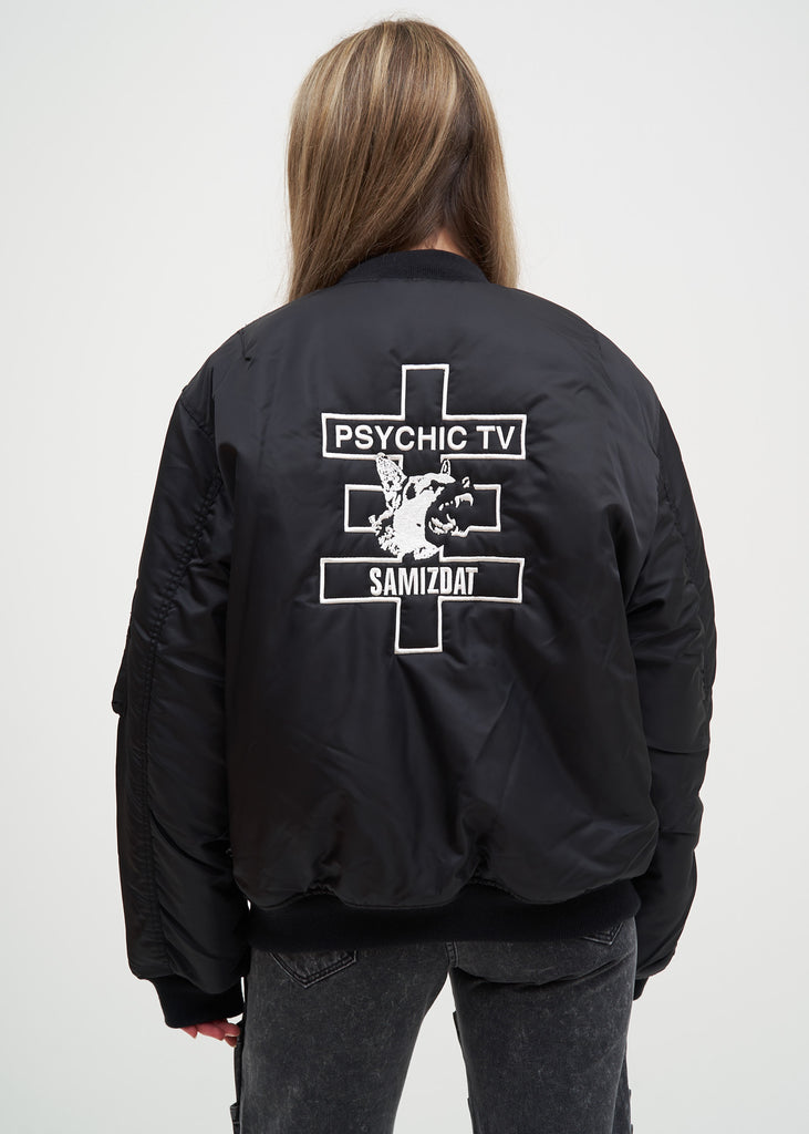 Black Cross Bomber Jacket