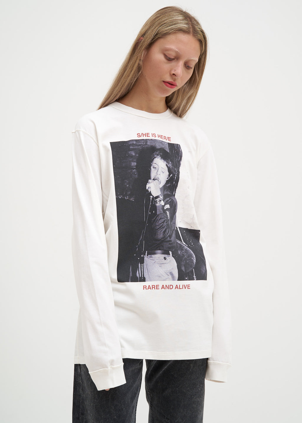 White Hero Long Sleeve T-Shirt