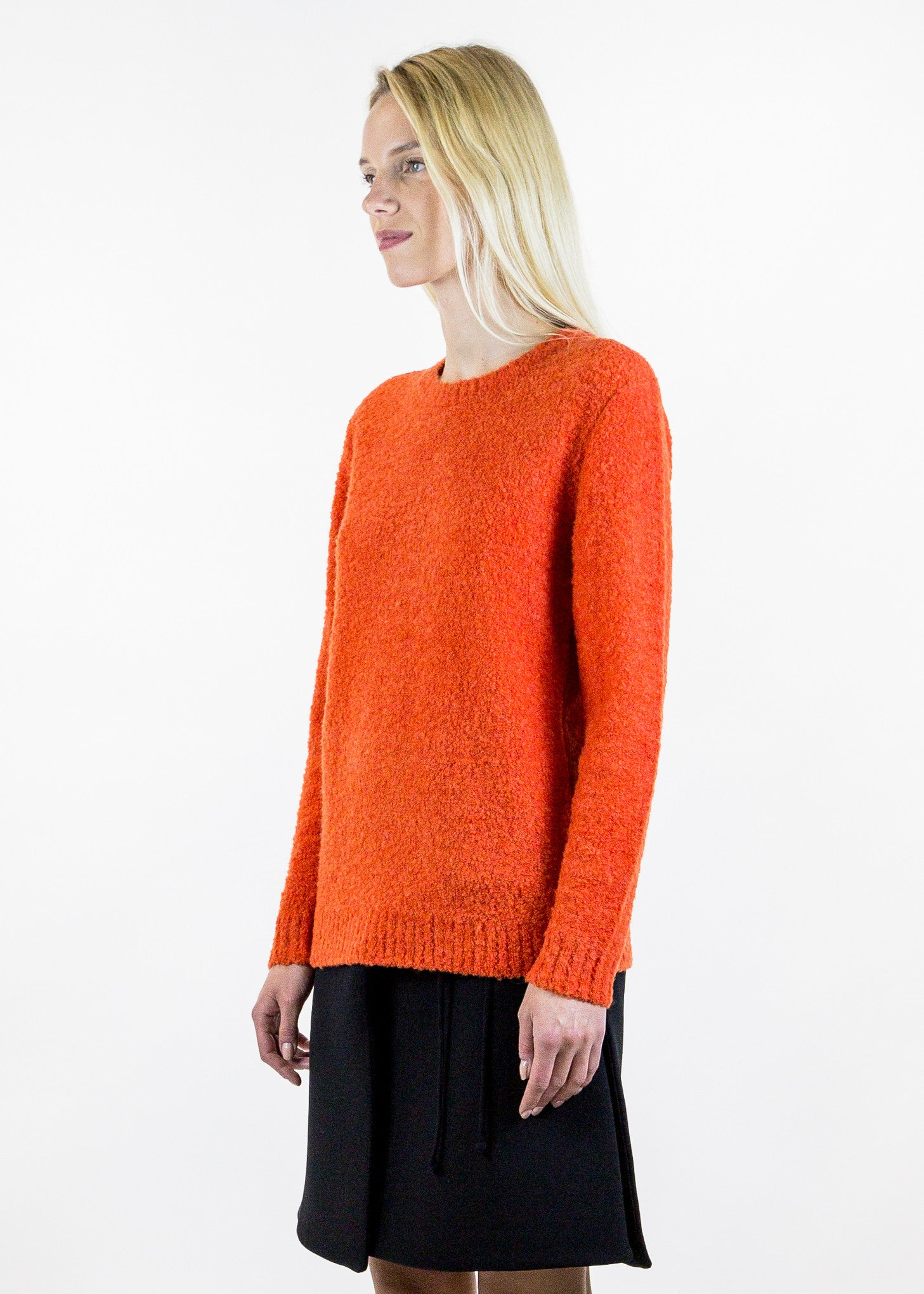 orange willie knitted sweater orange willie knitted sweater harmony with maison harmony. Black Bedroom Furniture Sets. Home Design Ideas