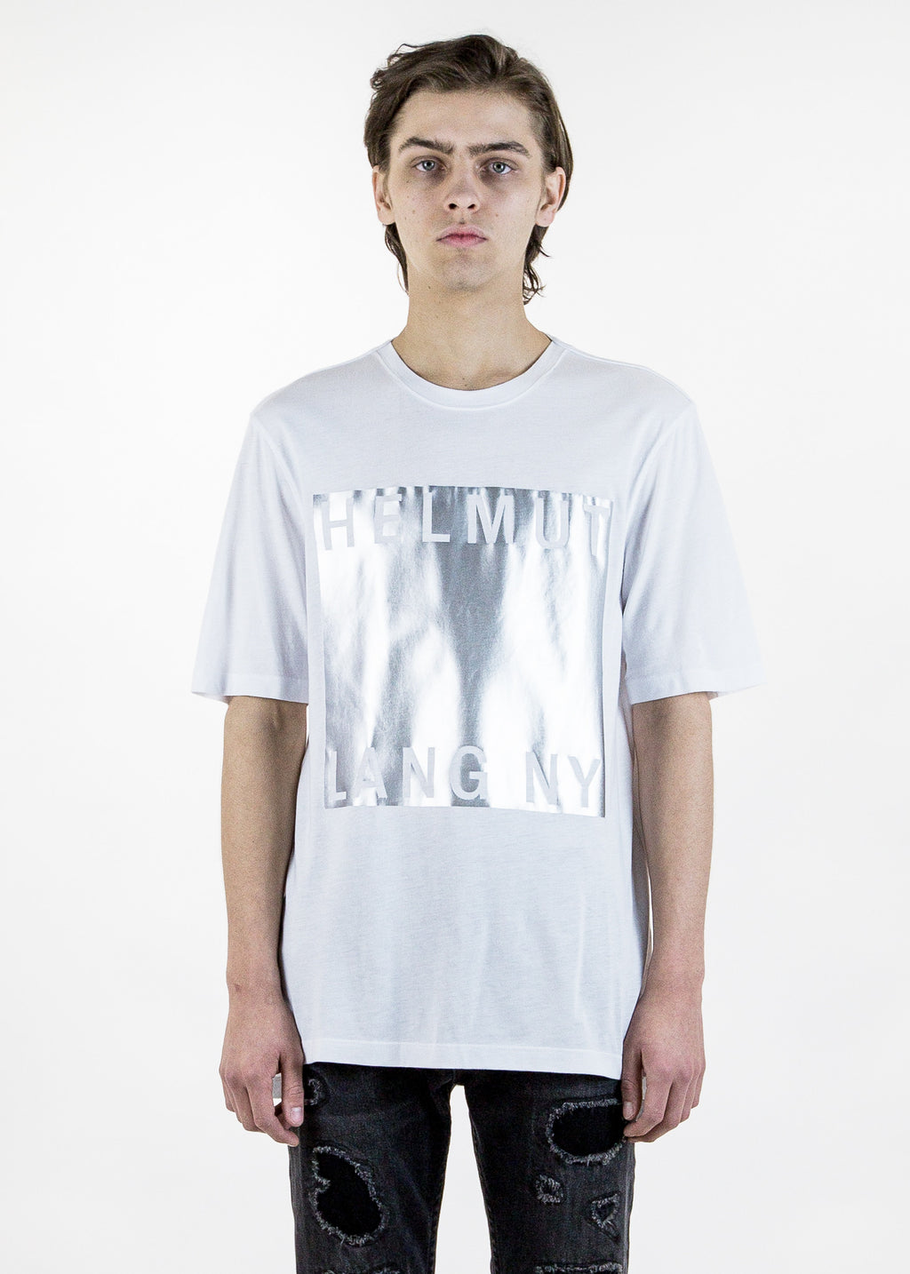 Helmut Lang, White Box Film Print T-Shirt, 017 Shop
