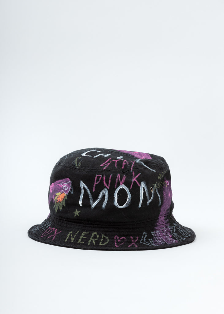 Black Paint Bucket Hat