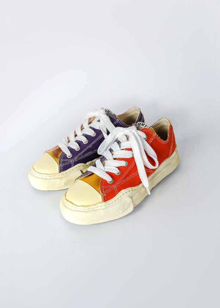 Yellow Toe Overdyed Original Sole Low Cut Sneaker