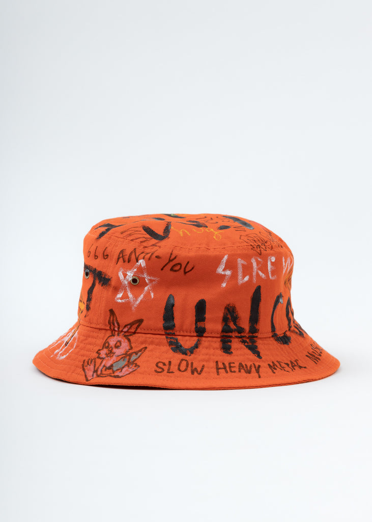 Red Paint Bucket Hat