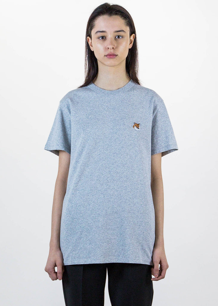 Light Grey Fox Patch T-Shirt