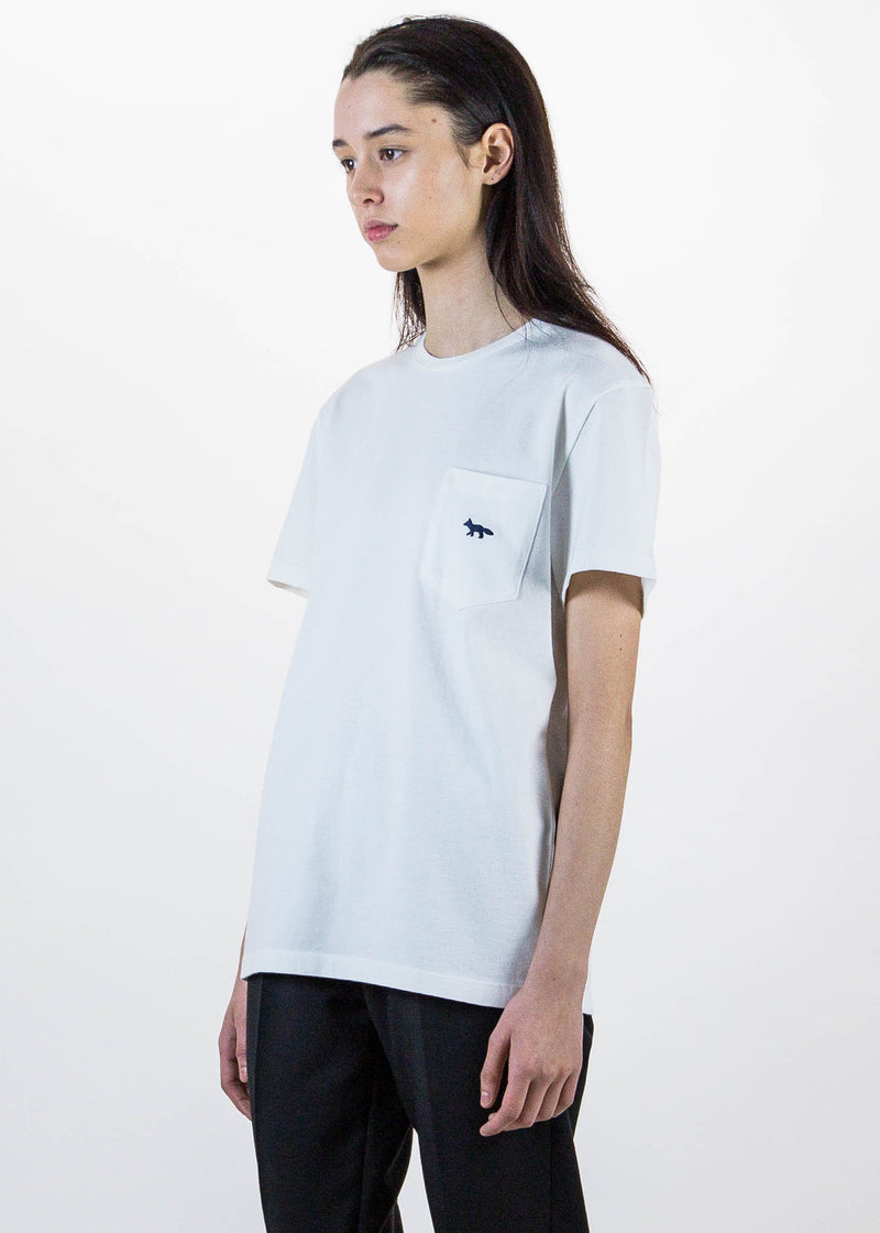 White Fox Embroidered T-Shirt
