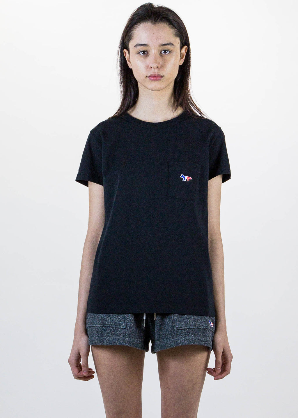 Black T-Shirt Tricolor Patch