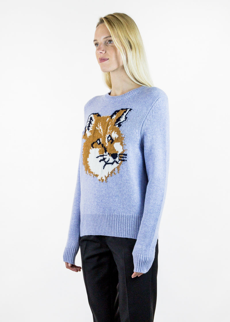 Lambswool Fox Head Pullover