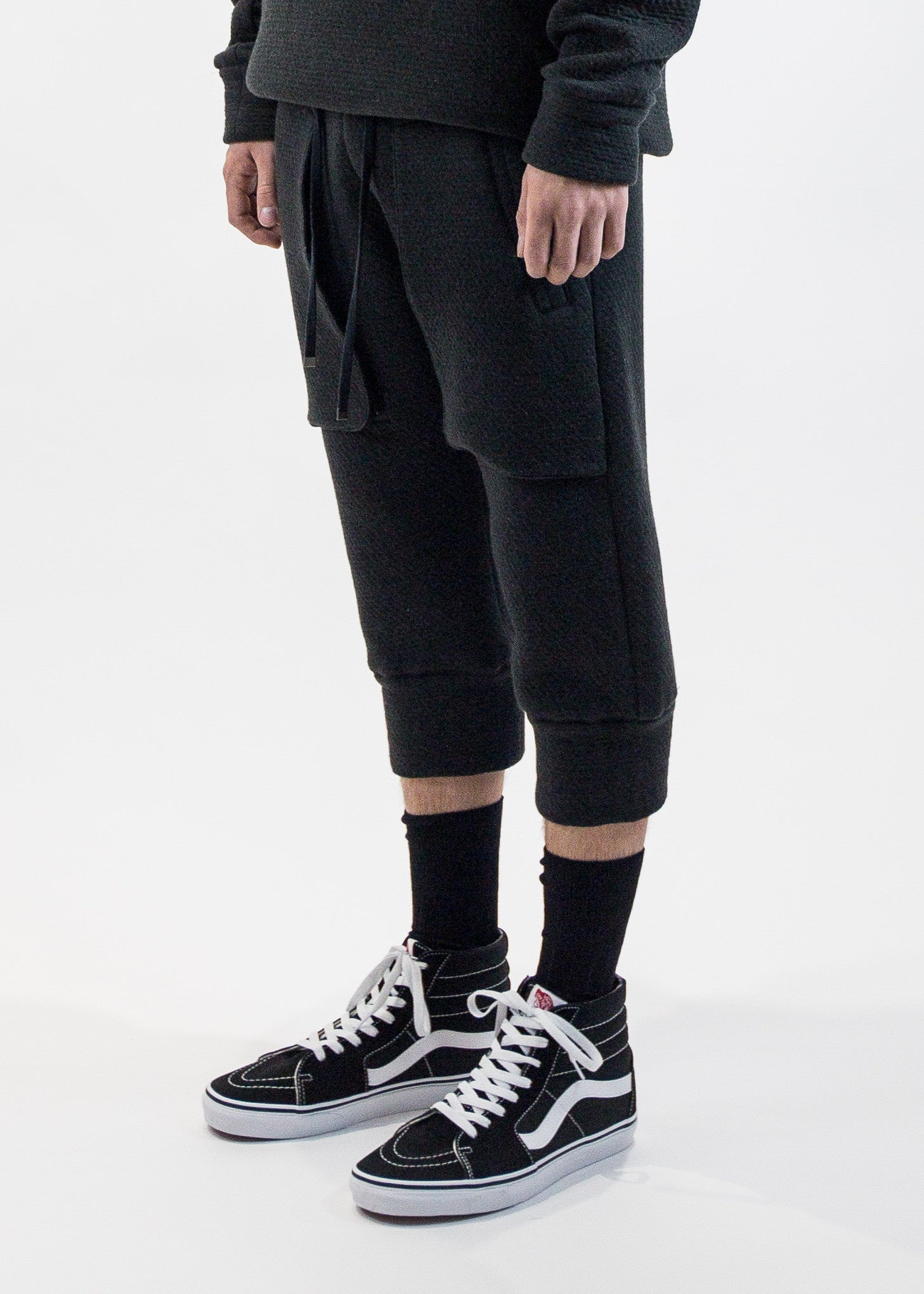 Helmut Lang Men's Cropped Sweatpant Infiltrated Jersey