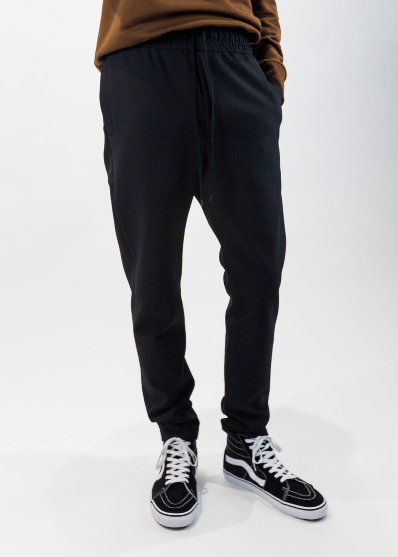 cmmn swdn mens black Stray Drawstring Trouser