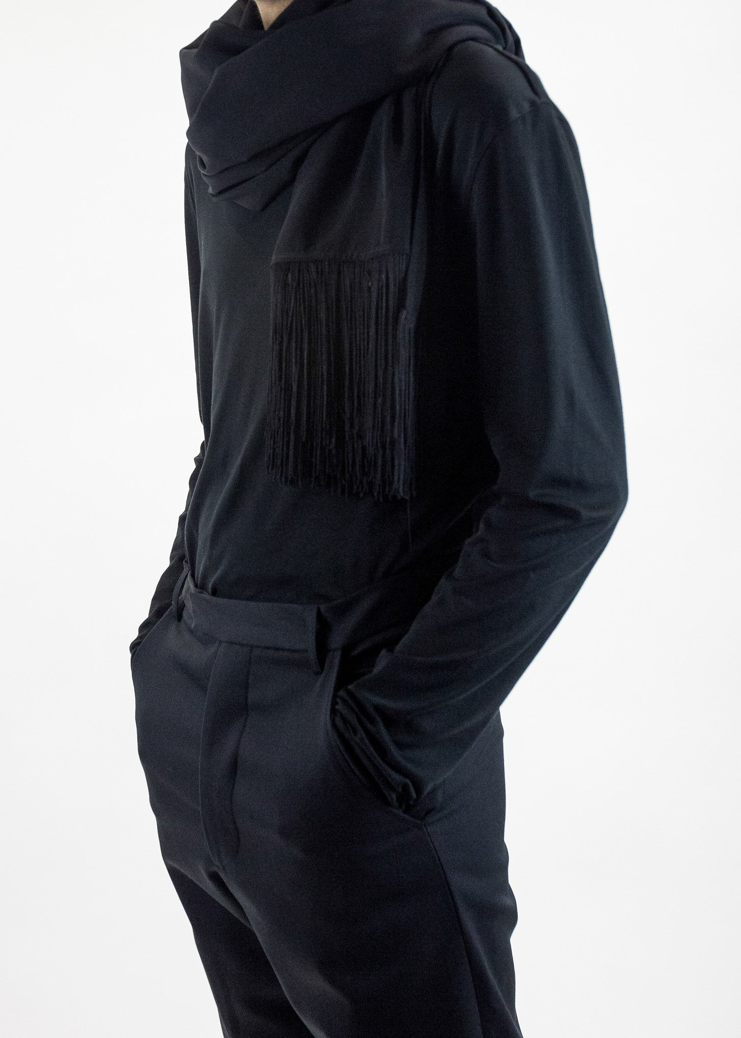 matthew miller Blake Scarf with Fringing