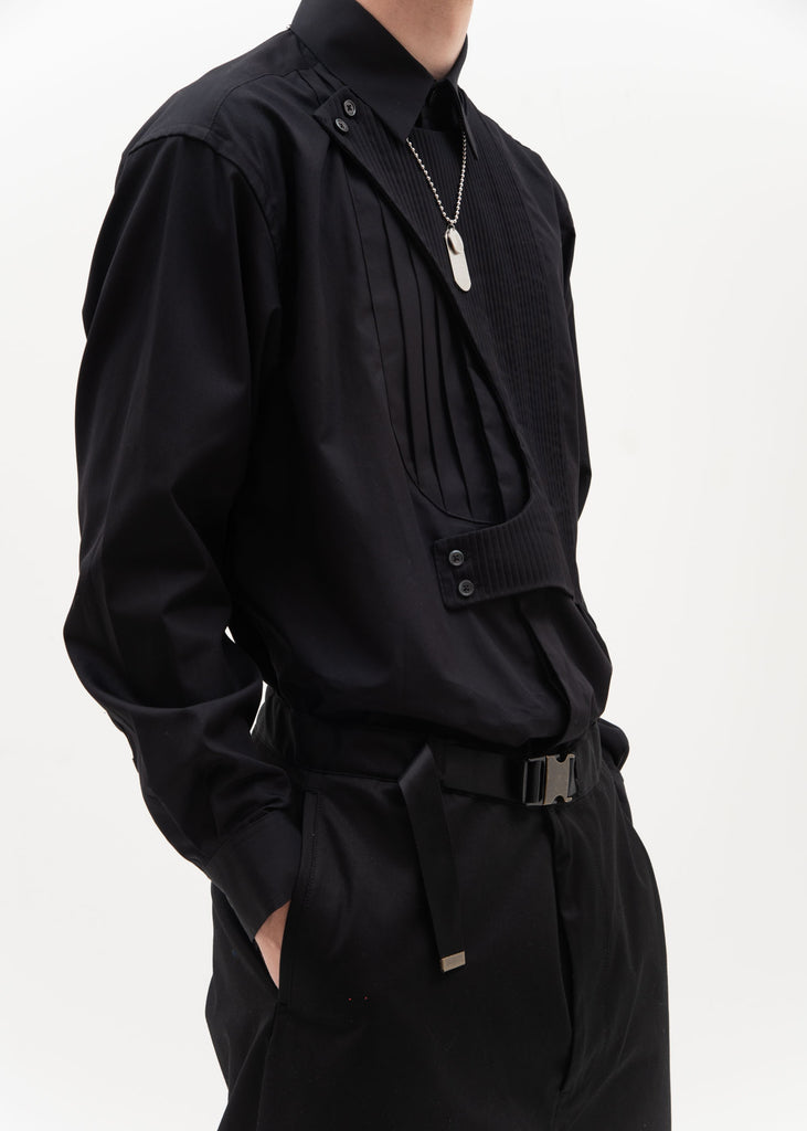 Black Double Layer Shirt