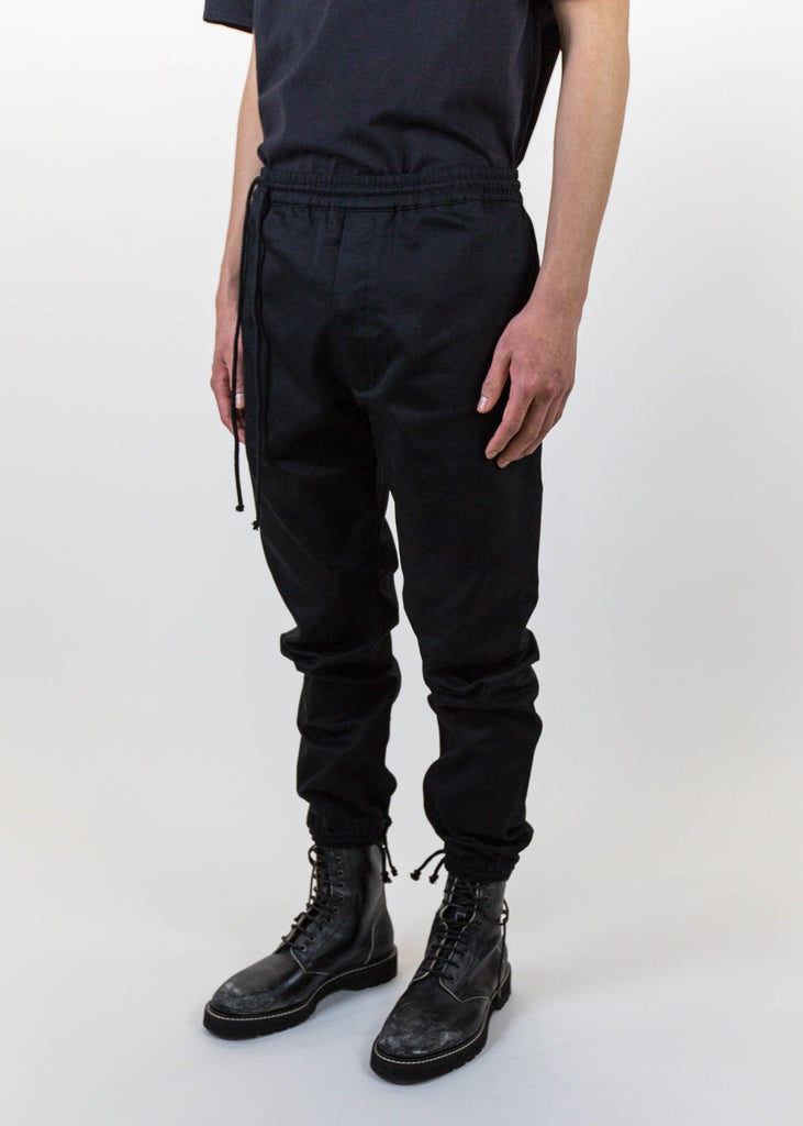 Siki Im, Black Drawstring Pants, 017 Shop