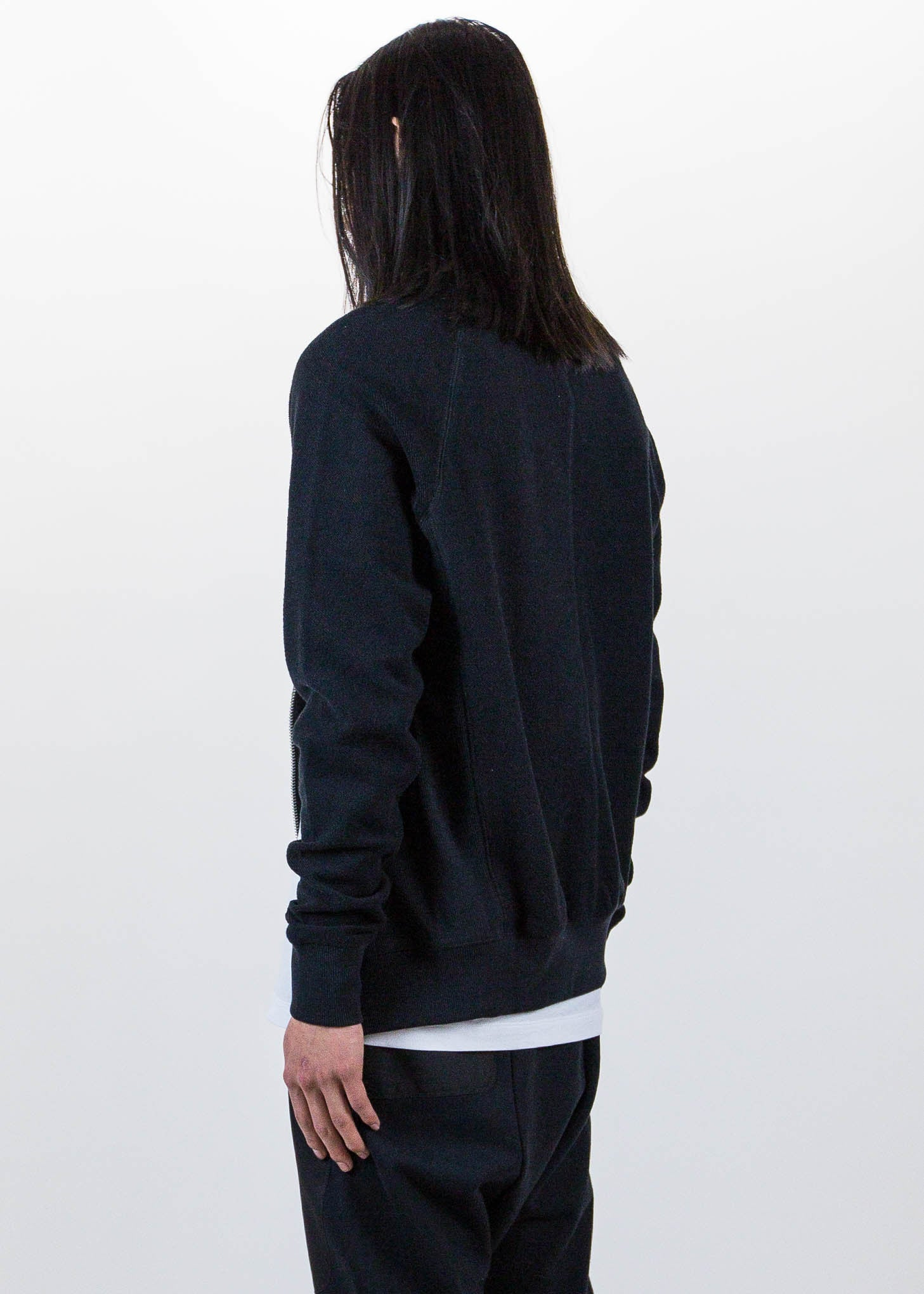 Black Side Zip Crew