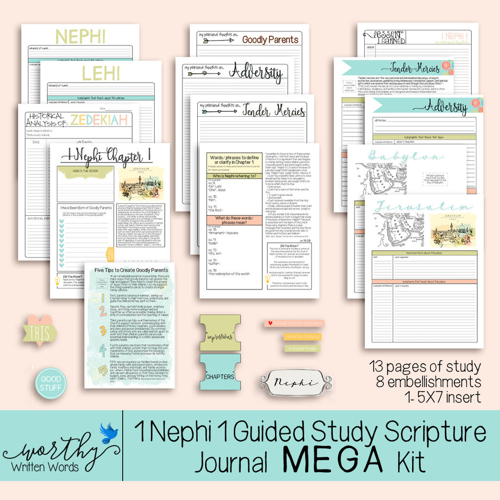 Introducing the First Guided Study for 1 Nephi Chapter 1 MEGA and MINI Kit!