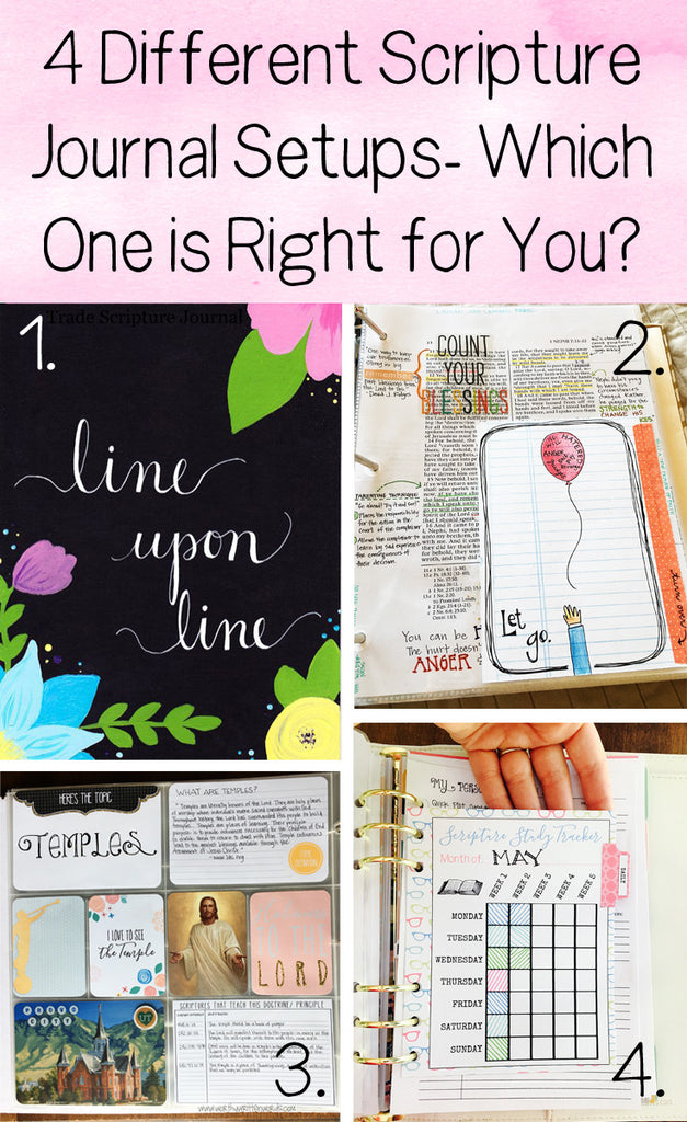 4 Different Kinds of Scripture Journal Setups- Which One Is Right For You?