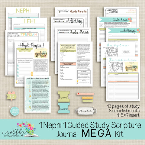 1 Nephi 1 Guided Study MEGA Kit - Worthy Written Words