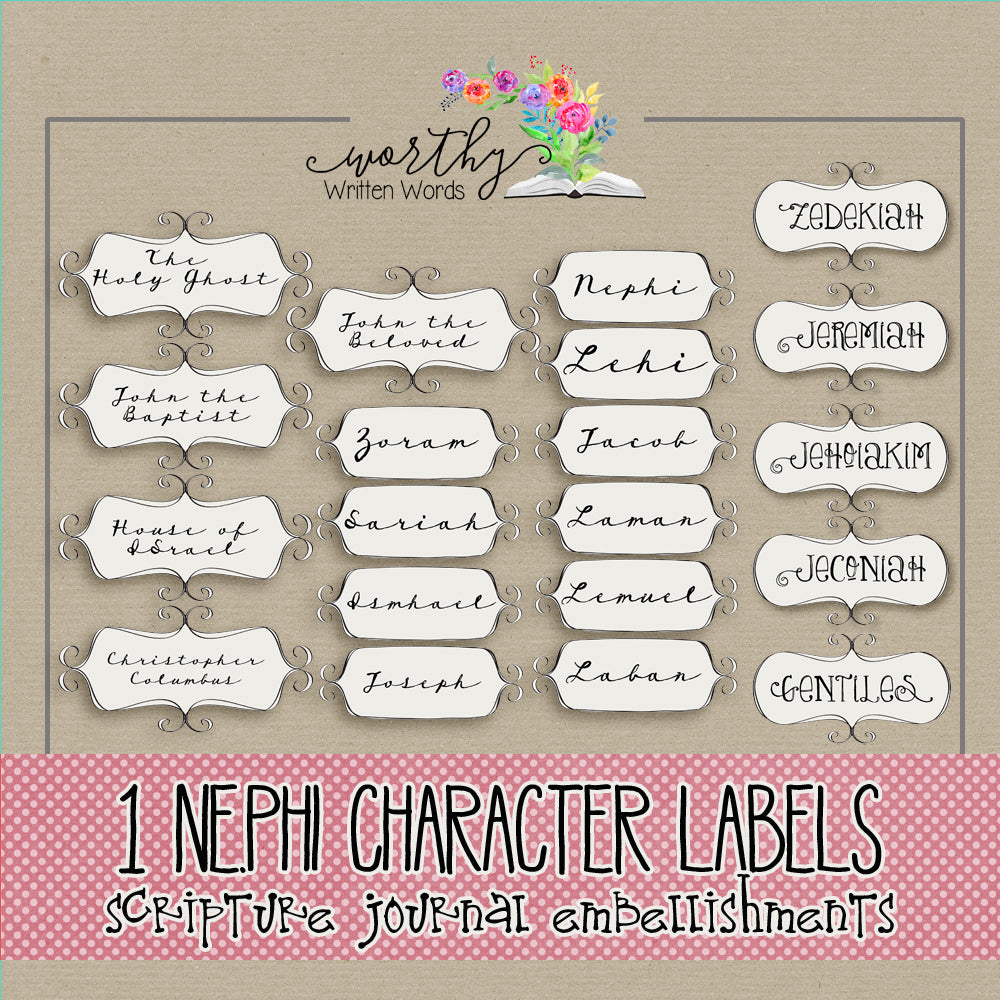 1 Nephi Character Labels