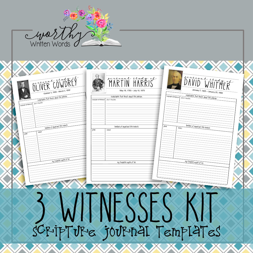 Three Witnesses Book of Mormon Scripture Journal Kit