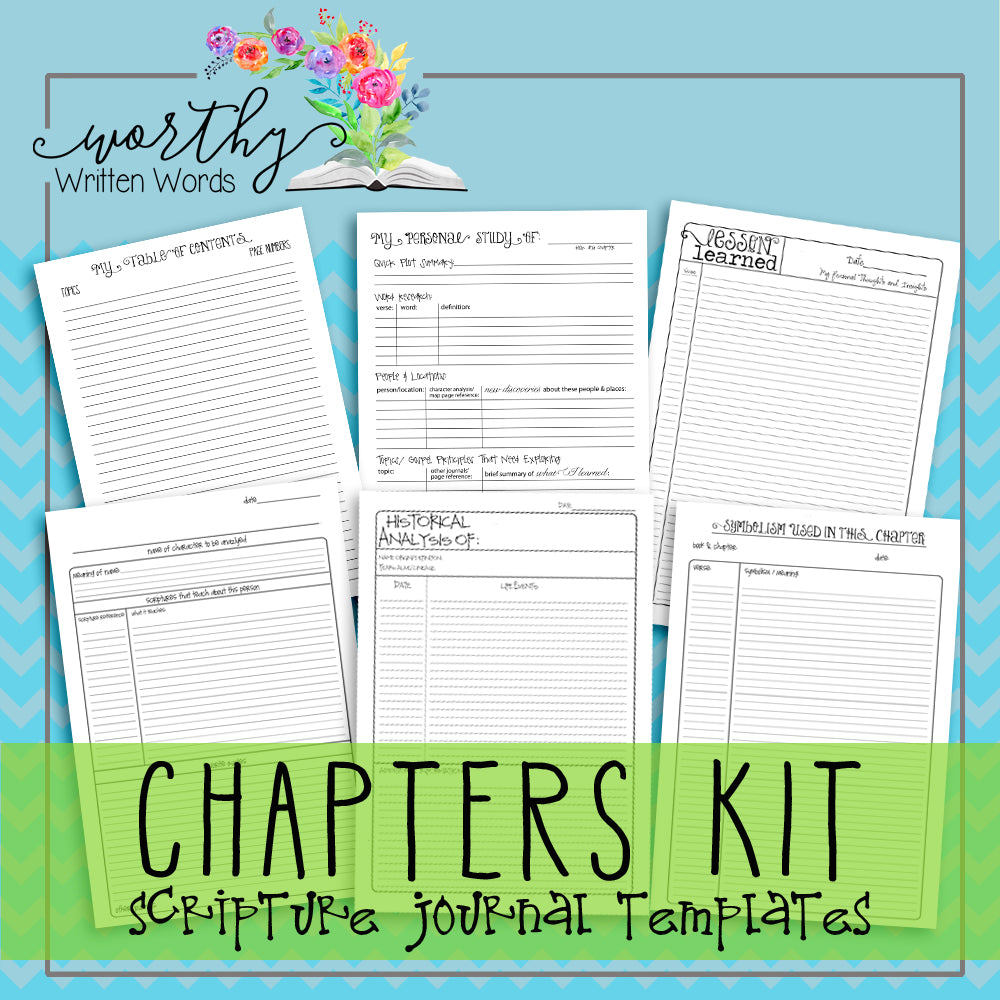 How To Use The Chapters Kit Templates Worthy Written Words