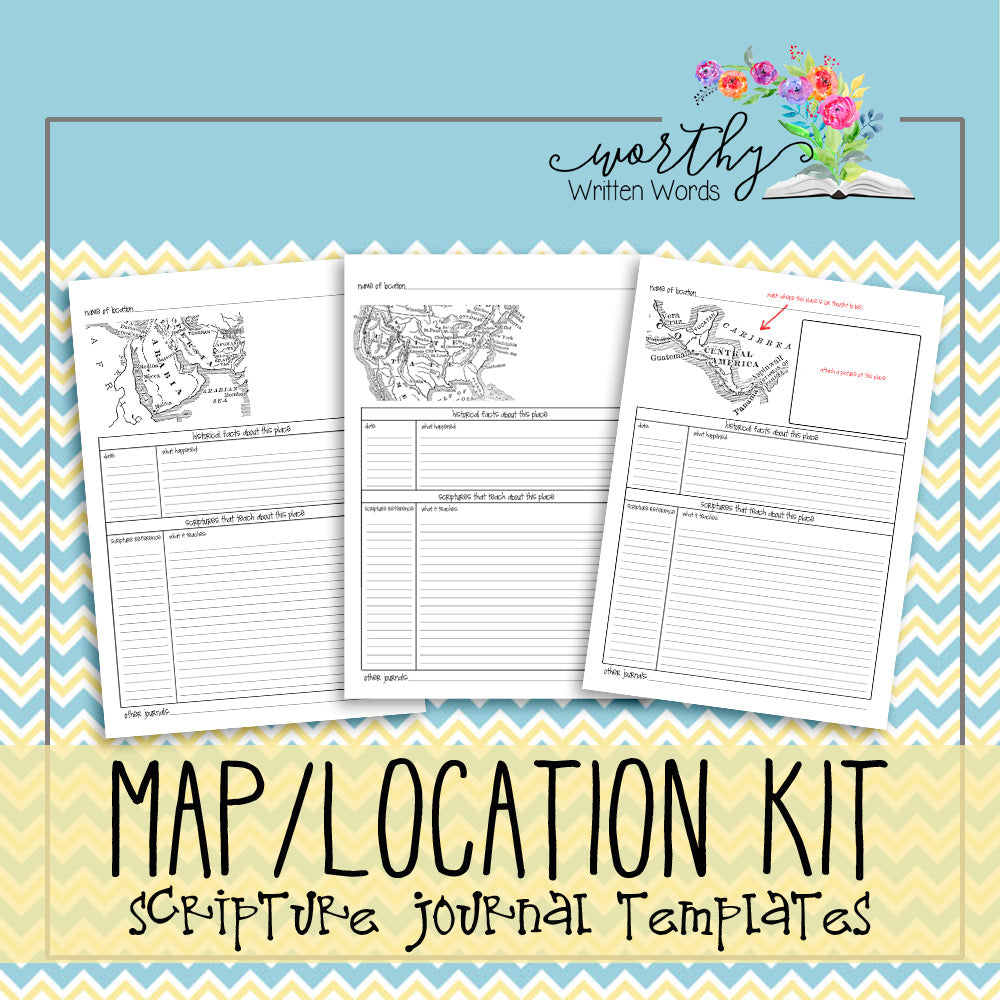 Map location scripture journal kit worthy written words map location scripture journal kit maxwellsz