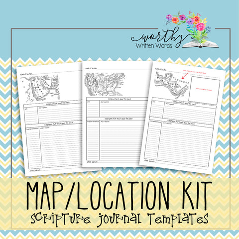 Map/ Location Scripture Journal Kit