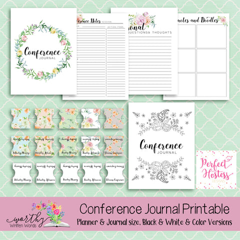 Conference Journal Printable