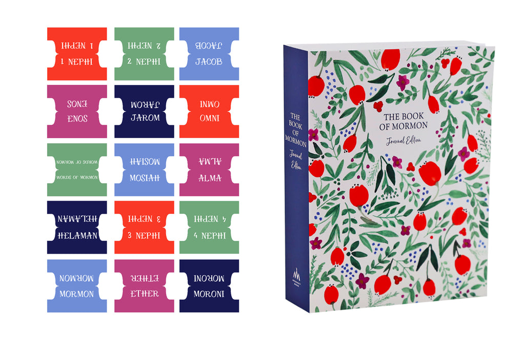 Book of Mormon Book Title Tabs: Red Delicious Theme