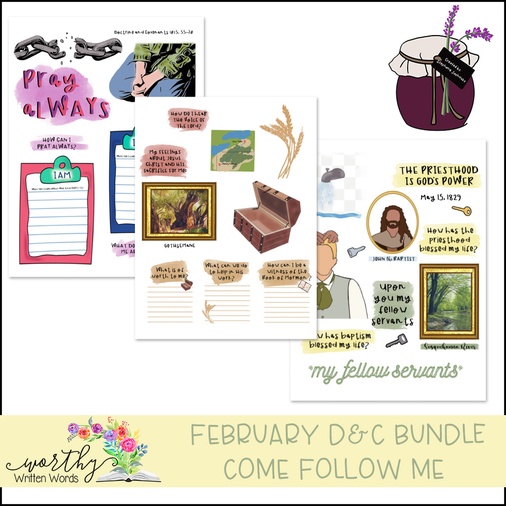 February D&C Come Follow Me Bundle