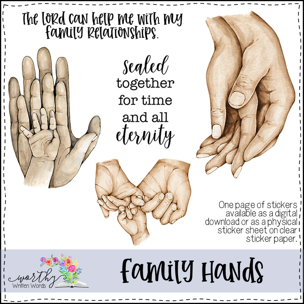 Family Hands Stickers