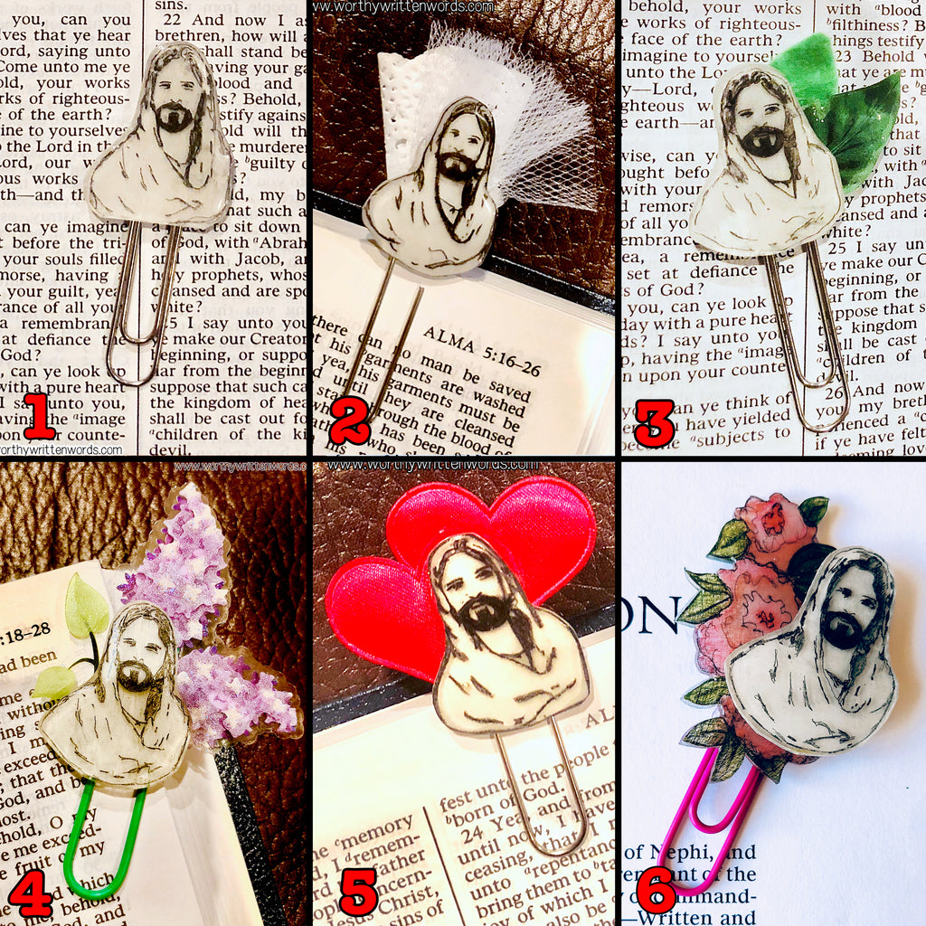 Jesus Paperclip Bookmarks