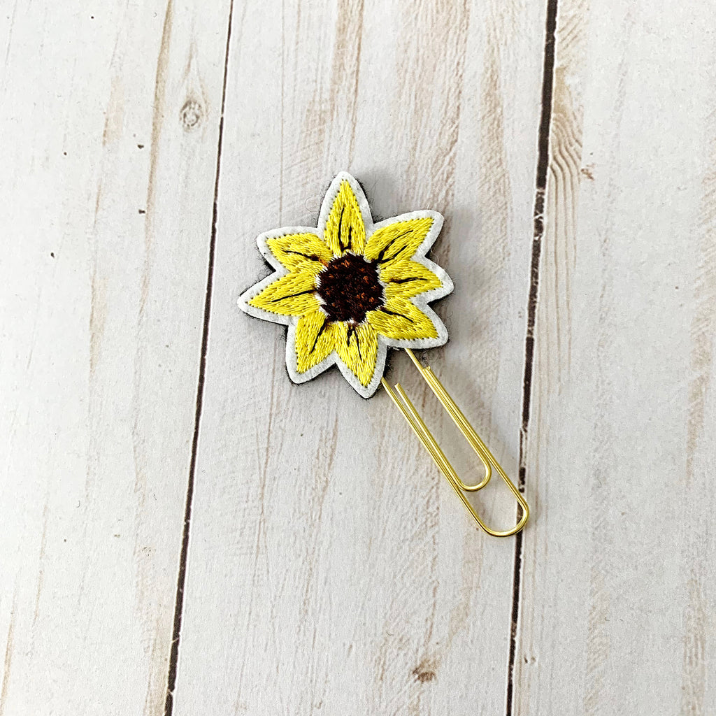 Sunflower Paperclip Bookmark