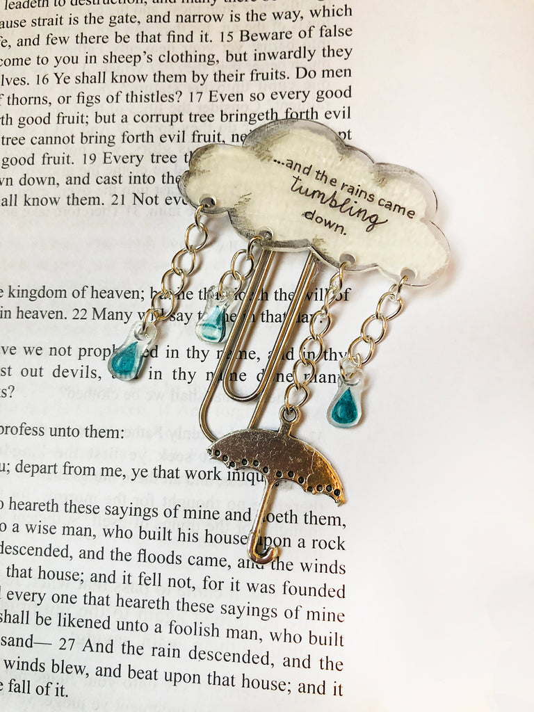 The Rains Came Down Paperclip Bookmark