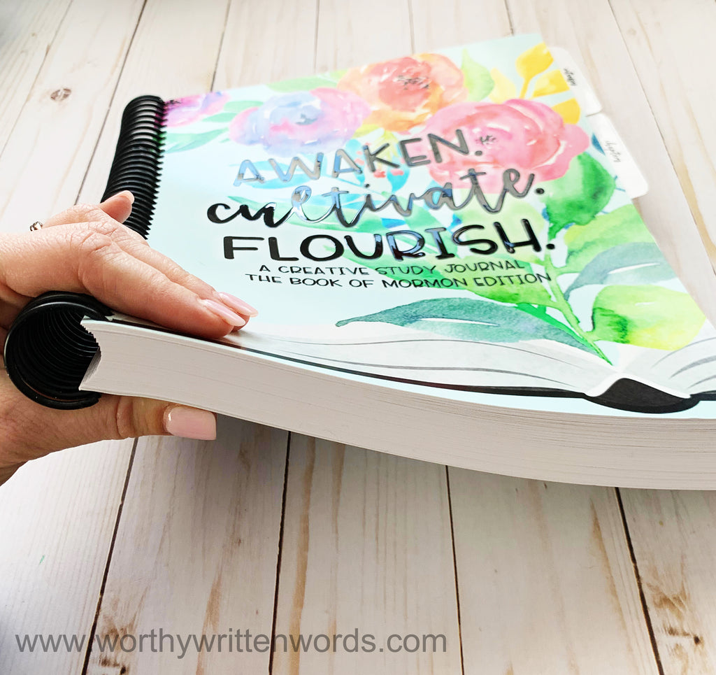 Awaken. Cultivate. Flourish. Creative Study Journal Book of Mormon Edition