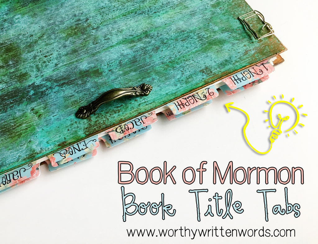Tabs Volume 2- Book of Mormon Book Titles - Worthy Written Words