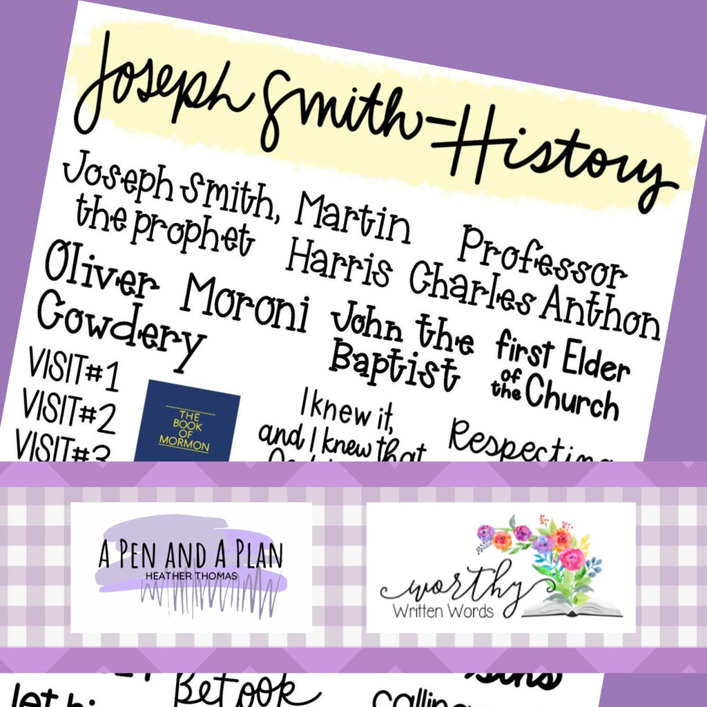 Joseph Smith History Word Art